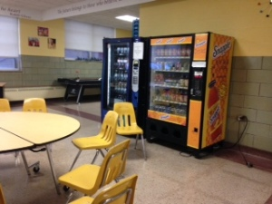 The Dasani and Snapple vending machines in the cafe
