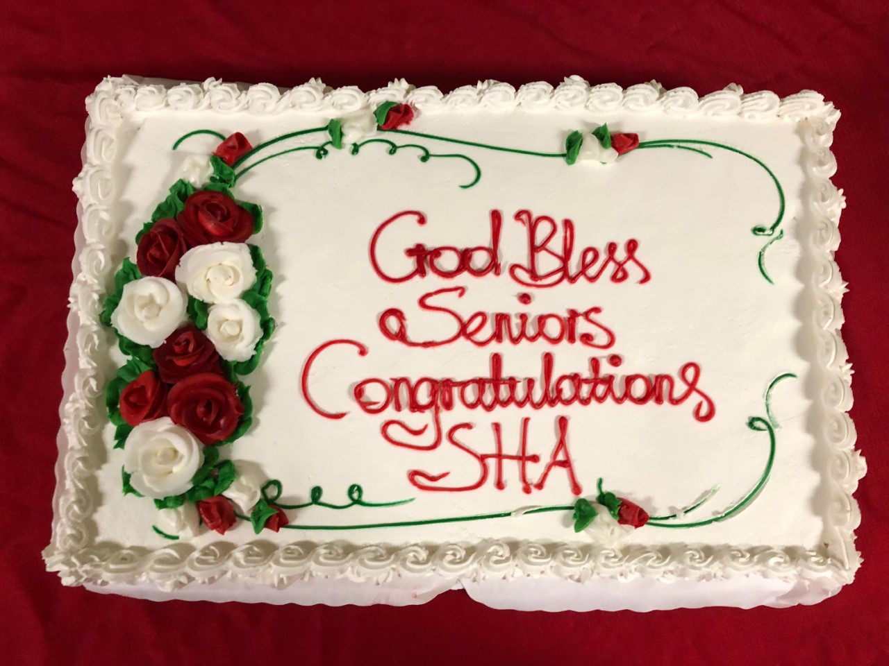 Cake+served+to+the+graduating+Class+of+2019+at+Baccalaureate+Mass.+