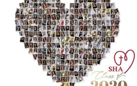Class of 2020 photos in a heart shape